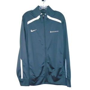 Nike Full Zip Light Weight Jacket Gray Mens Large